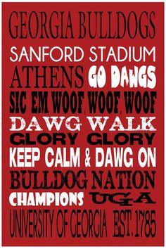 Georgia+Bulldogs+Go+Dawgs+Athens+Dawg+Walk+Football+by+SCPeddler,+$18.00