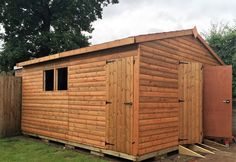 Timber Garden shed & workshop, Log Lap. Made to order by Davies Timber Wales, Wales