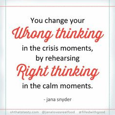 This has been a hard-won but life-changing lesson for me! Old self-defeating thought patterns won't change on their own. You have to practice a new way of thinking and it takes time but eventually it becomes more natural. I used to be a pretty pessimistic fault-finding person and I can still veer that way (especially when I'm tired) but through intentional practice -- part of which is keeping a gratitude journal -- I've gotten much better at seeing things to be thankful for. AND saying…