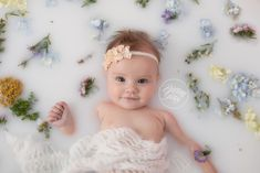 Milk Bath Dream Session | Baby Milk | Wildflowers | Start With The Best | Cleveland | Brittany Gidley Photography LLC