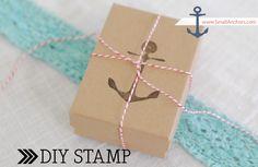 DIY Anchor Stamp - so cute!
