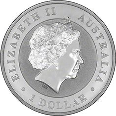 Australian Kookaburra Reverse. Available in 1 oz, 10 oz and 1 kilo versions.