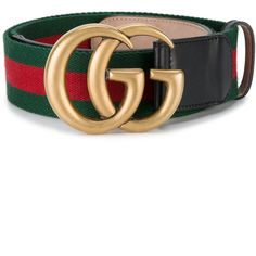 Gucci web double G buckle belt (€385) ❤ liked on Polyvore featuring accessories, belts, leather belt, leather buckle belt, genuine leather belt, real leather belts and gucci belt