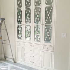Custom built in china cabinet #kadprogress