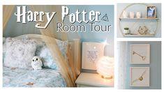 HARRY POTTER BEDROOM REVEAL & TOUR!   TEEN BEDROOM MAKEOVER   HARRY POTTER BEDROOM/DORM ROOM DECOR