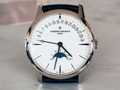 Vacheron Constantin Patrimony Moon Phase And Retrograde Date dial