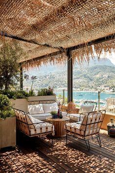 Bikini Island & Mountain Hotel - Boutique Hotel in Mallorca, Spain Design Hotel, Outdoor Spaces, Outdoor Living, Outdoor Decor, Casa Kardashian, Great Places, Beautiful Places, Beach Bars, Beach Hotels
