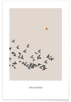 Bird And Birds - Sarah Bühler - Premium Poster
