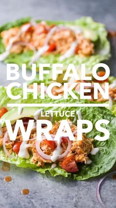 16 Healthy Dinner Recipes for Fat Loss buffalo chicken lettuce wraps Clean Eating, Healthy Eating, Healthy Food, Healthy Drinks, Lettuce Recipes, Healthy Lettuce Wraps, Salat Wraps, Buffalo Chicken Lettuce Wraps, Healthy Buffalo Chicken