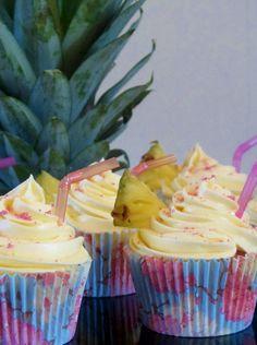 Pina Colada flavored cupcakes