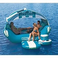 You must be having designer pool floats in your pool, but then most of them are meant for single persons! So, if you want to swim and party with your group then this Cabana Islander is the float for you! The luxury floating cabana island paradise is. Ideas Cabaña, Pond Ideas, Gift Ideas, Easy French Twist, My Pool, Pool Bar, Pool Floats, Jet Ski, Lake Life