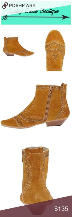 """MATISSE Sultan This is a Western inspired ankle boot with a suede upper, suede lining, rubber sole & wooden heel, heel is approx. 1in(H), has inside zipper entry & cushioned footbed, the stud detail is a thing of beauty! A camel color, These are an """"every season"""" type bootie. Matisse Shoes Ankle Boots & Booties"""