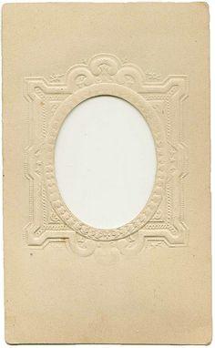 Vintage Embossed Oval Frame