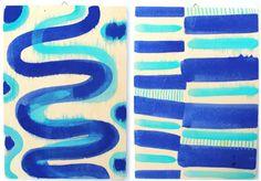 """Saatchi Art Artist Birgit Nagengast; Painting, """"Blue udn curves"""" #art"""