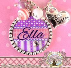 BIG SISTER NECKLACE Girl's Personalized Big by onceuponasugartree, $17.50