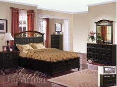 4Pc Queen Size Bedroom Set With Vertical Line Carving In Brown Enchanting Queen Size Bedroom Sets Inspiration