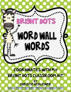 FREE!  Word Wall Words CLASSROOM KIT. Be sure to check for more coordinating prod...
