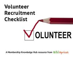 Since many non-profits and membership organizations struggle to recruit volunteers, Wild Apricot created a Getting Started With Volunteer Recruitment Guide and Checklist to help volunteers and staff who are new to volunteer recruitment. Volunteer Programs, Volunteer Ideas, Volunteer Gifts, Start A Non Profit, Volunteer Management, Relay For Life, Volunteer Appreciation, Helping Others, Knowledge