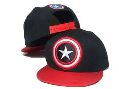 American Captain Black,Red Kids Youth Snapback Caps Hats - pop snapback