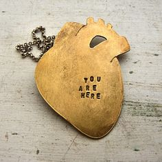 Brass Anatomical Heart...