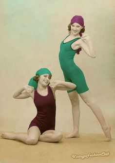 Vintage Womens Simsuits 1930s Fashion