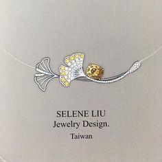 Ginkgo and golden green jade … - Jewelry Art Nouveau Jewelry, Jewelry Art, Fine Jewelry, Fashion Jewelry, Jewellery Sketches, Jewelry Sketch, Gouache, Jewelry Design Drawing, Art Nouveau Tiles