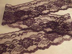 """New 2 3//4/"""" wide gorgeous Black PLUM purple Lace TRIM"""