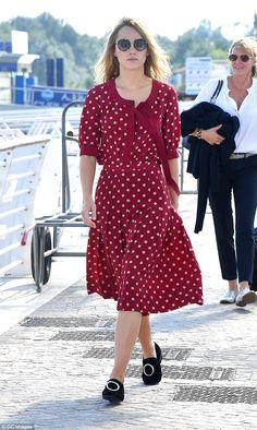 On the spot! Suki Waterhouse, 24, once again stole the limelight in a polka dot dress as she headed out during the 73rd Venice Film Festival in Italy on Wednesday