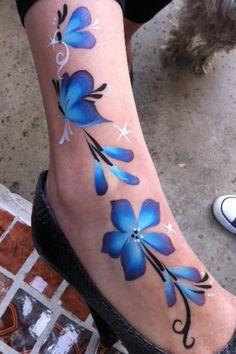 Beautiful face paint butterflies