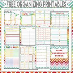 DIY Hogar, dulce hogar: Organizador Imprimibles