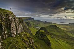 """After a mostly sleepless night spent worrying about the heavy rain and gales battering my tent at the summit of Biodha Buidhe on the Isle of Skye, morning broke calm and quiet. Angry clouds were still hanging low over the Trotternish Ridge, though, and the impressive conditions, coupled with the long days this far north, left me with plenty of time to take some unusual """"selfies"""" on the ridge."""