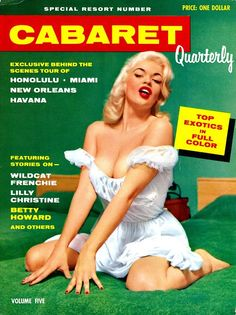 Jayne Mansfield on the cover of Cabaret Quarterly,Vol. 5, 1956.