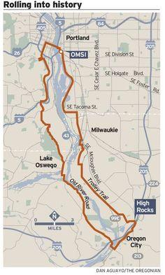 OMSI - Oregon City loop - 30 miles