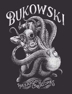 Bukowski by Yeaaah! Studio #illustration #drawing #nautical #octopus