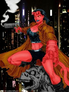 Hellboy Liz, Hellboy 2004, Character Ideas, Character Concept, Golden Army, Sexy Horror, Hell Girl, Hipster Girls, Art Base