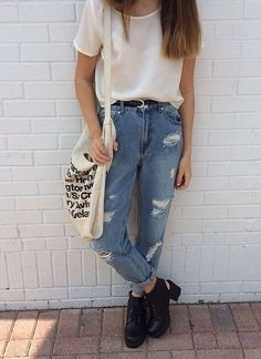 boyfriend jeans grunge - Google Search