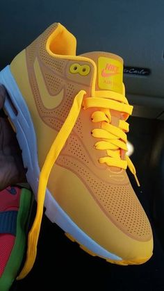 shoes nike yellow nike air max 1 nike sneakers