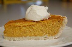 Pumpkin pie :: gluten free :: recipe
