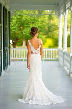 Beautiful lace wedding dress: http://www.stylemepretty.com/little-black-book-blog/2012/09/13/summerville-sc-wedding-from-heather-forsythe-photography-luke-wilson-special-events/ | Photography: Heather Forsythe - http://heatherforsythe.com/