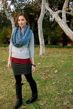Circle scarves scream fall/winter to me!