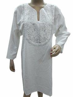 Boho Kurti Tunic Top Embroidered Cotton Kurta Dress Large Size Mogul Interior,http://www.amazon.com/dp/B00H08126Q/ref=cm_sw_r_pi_dp_kdSMsb166BXMA14A