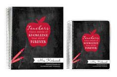 Teacher Planners - Red Chalk Apple Custom Teacher Planner