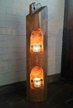 Windlicht Laterne aus Holzbalken Alt Eichenbalken Stele Dekosäule Teelichthalter in Möbel & Wohnen, Dekoration, Kerzenständer & Teelichthalter | eBay!