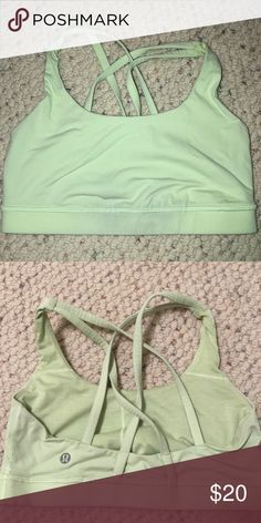 dcd9aac0e0 Lulu lemon sports bra Neon green lulu lemon sports bra