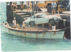 A Porsche 911 being delivered in 1982 to its new owner living on a tiny Norfolk island in the middle of the Pacific Ocean.