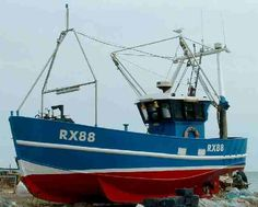 Possibly a fishing boat from Hastings, Southern England. RX88.