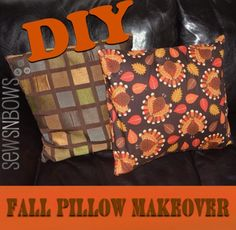 Thanksgiving Pillow Cover (tutorial) by SewsNBows