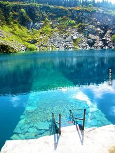 Sunken walkway in Ireland