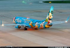 """Alaska Airlines Boeing in the """"Disneyland"""" livery Commercial Plane, Commercial Aircraft, Passenger Aircraft, Aircraft Painting, Airplane Design, Alaska Airlines, Best Flights, Aviation Industry, Airline Flights"""