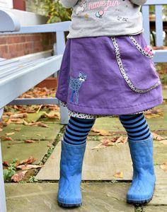 Schnittmuster Quick- & Easy-Rock für Mädchen, toll für Anfänger. Plot Leopard von kits4kids Apron, Easy, Style, Fashion, Rock Girls, Sew Simple, Sewing For Kids, Princess, Dressing Up